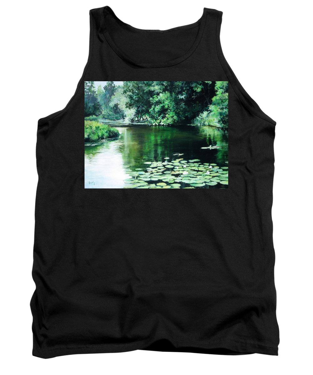 Landscape Tank Top featuring the painting Their Spot by William Brody