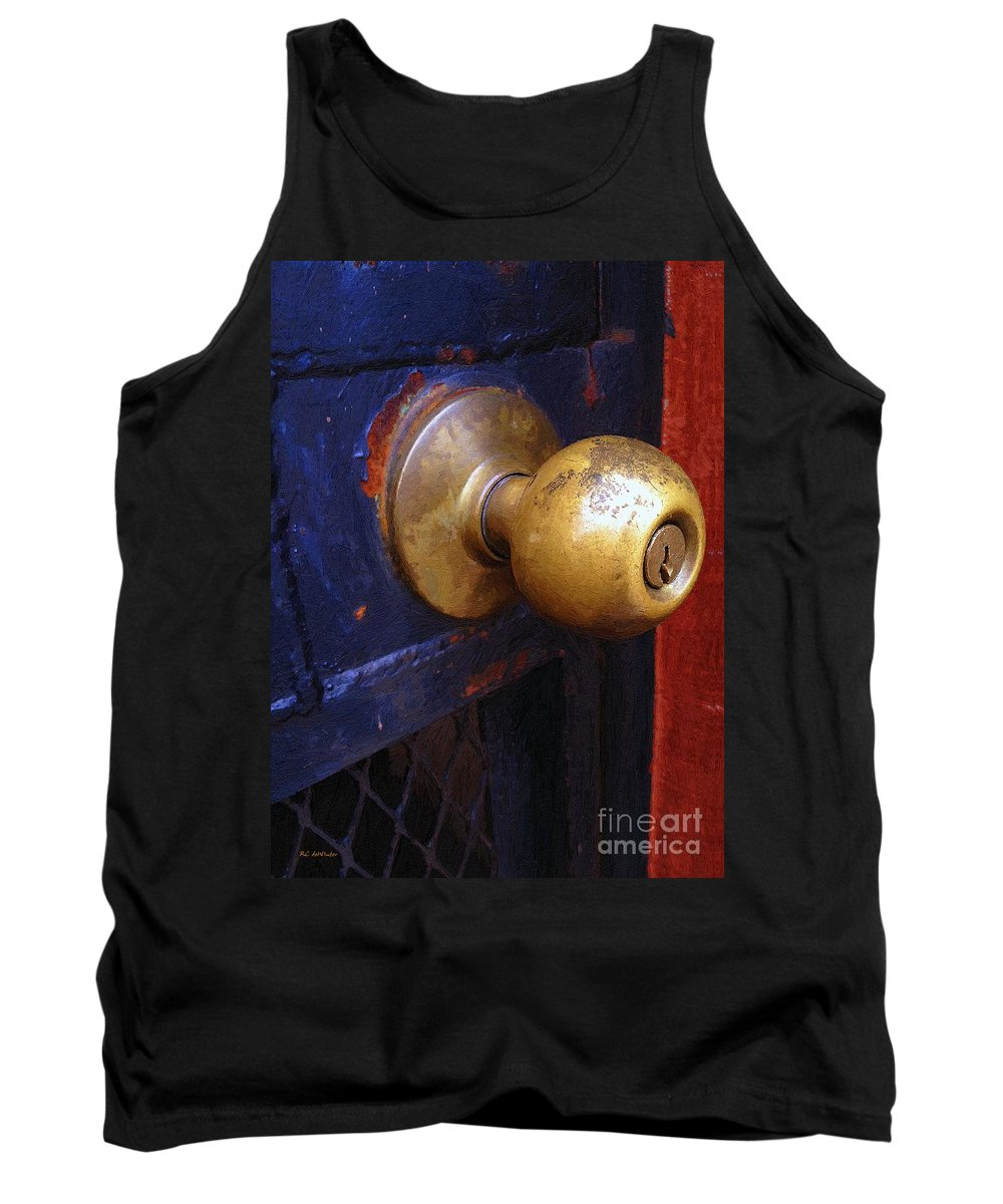 Door Tank Top featuring the painting There's A Key Here Somewhere by RC DeWinter