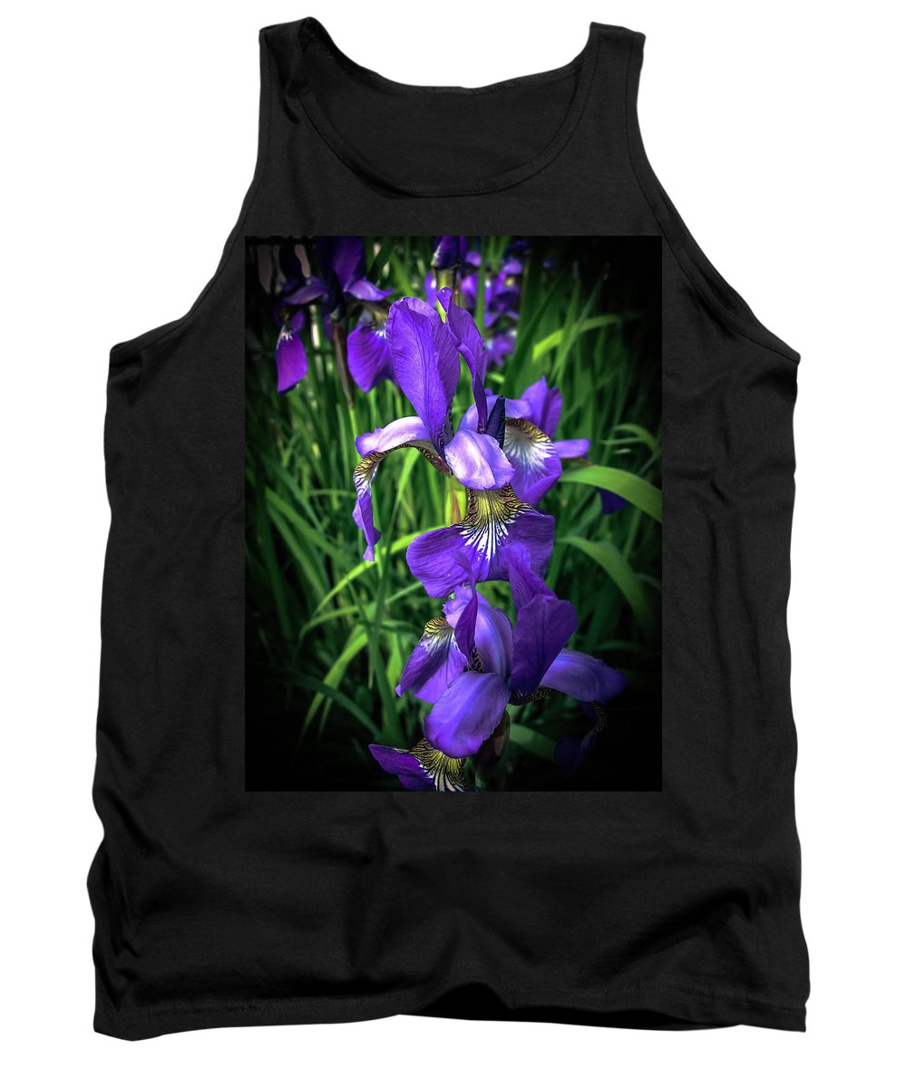 Iris Tank Top featuring the photograph Colors Of Iris by Sherman Perry