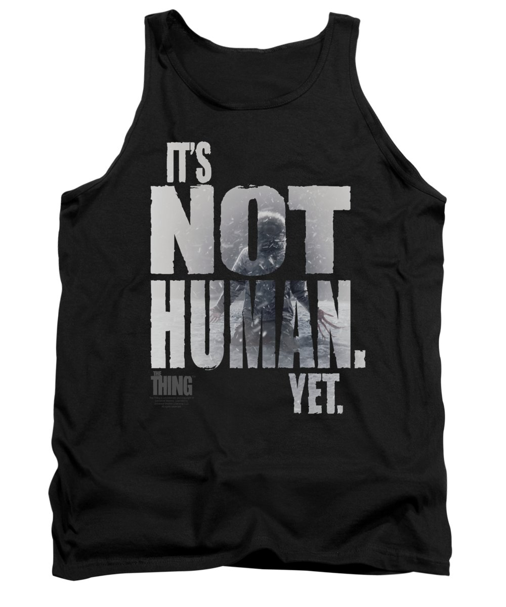 The Thing Tank Top featuring the digital art Thing - Not Human Yet by Brand A