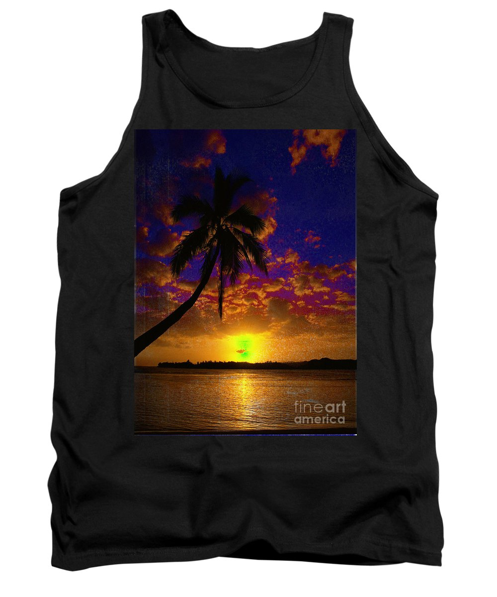 Digital Art Landscape Tank Top featuring the digital art Thinking Of You by Yael VanGruber