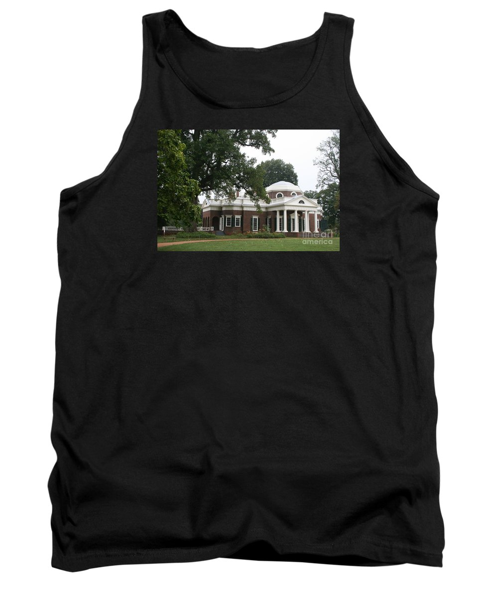 Monticello Tank Top featuring the photograph Thomas Jeffersons Monticello by Christiane Schulze Art And Photography