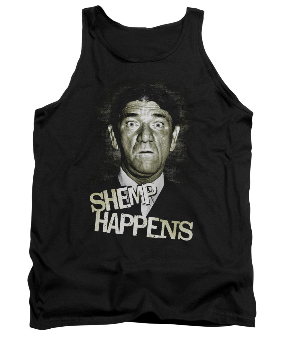The Three Stooges Tank Top featuring the digital art Three Stooges - Shemp Happens by Brand A
