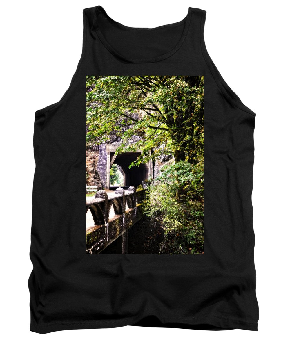 Multnomah Scenic Route Tank Top featuring the photograph Through The Tunnel by Image Takers Photography LLC - Laura Morgan