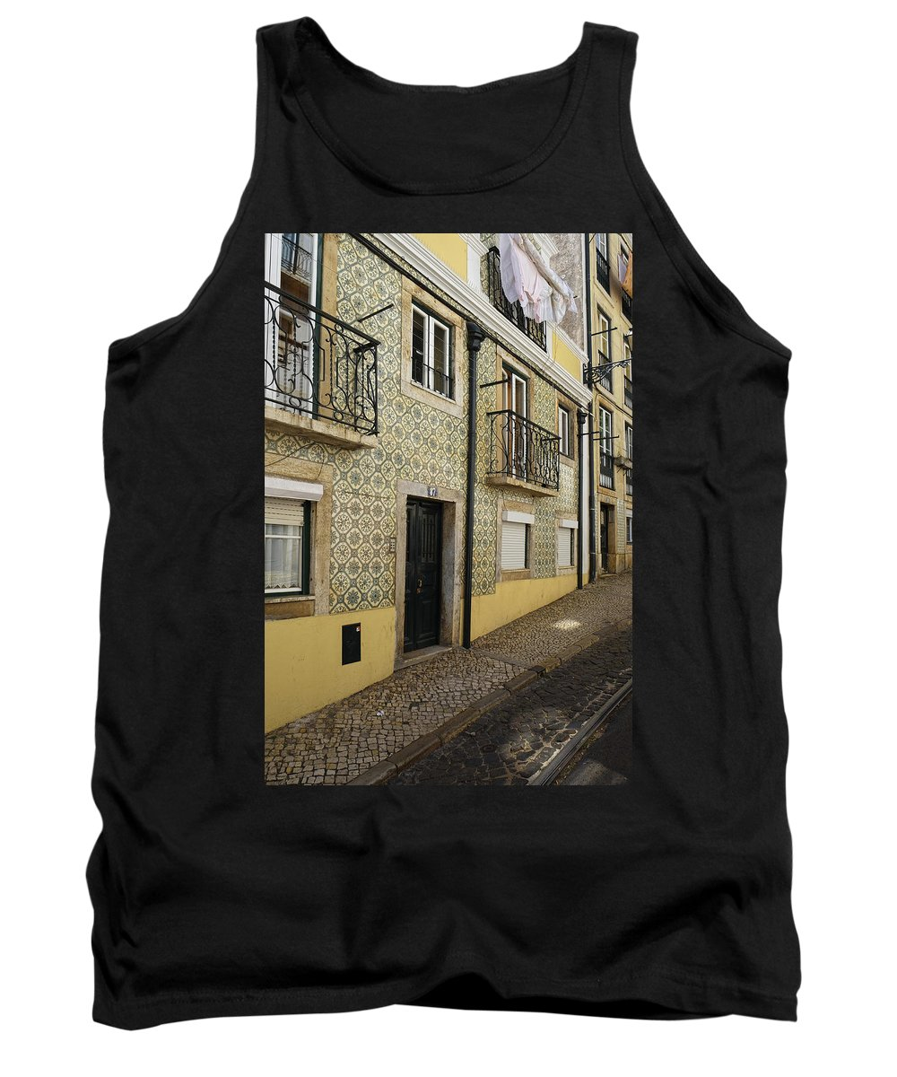 Lucinda Walter Tank Top featuring the photograph Tile Walls Of Lisbon by Lucinda Walter