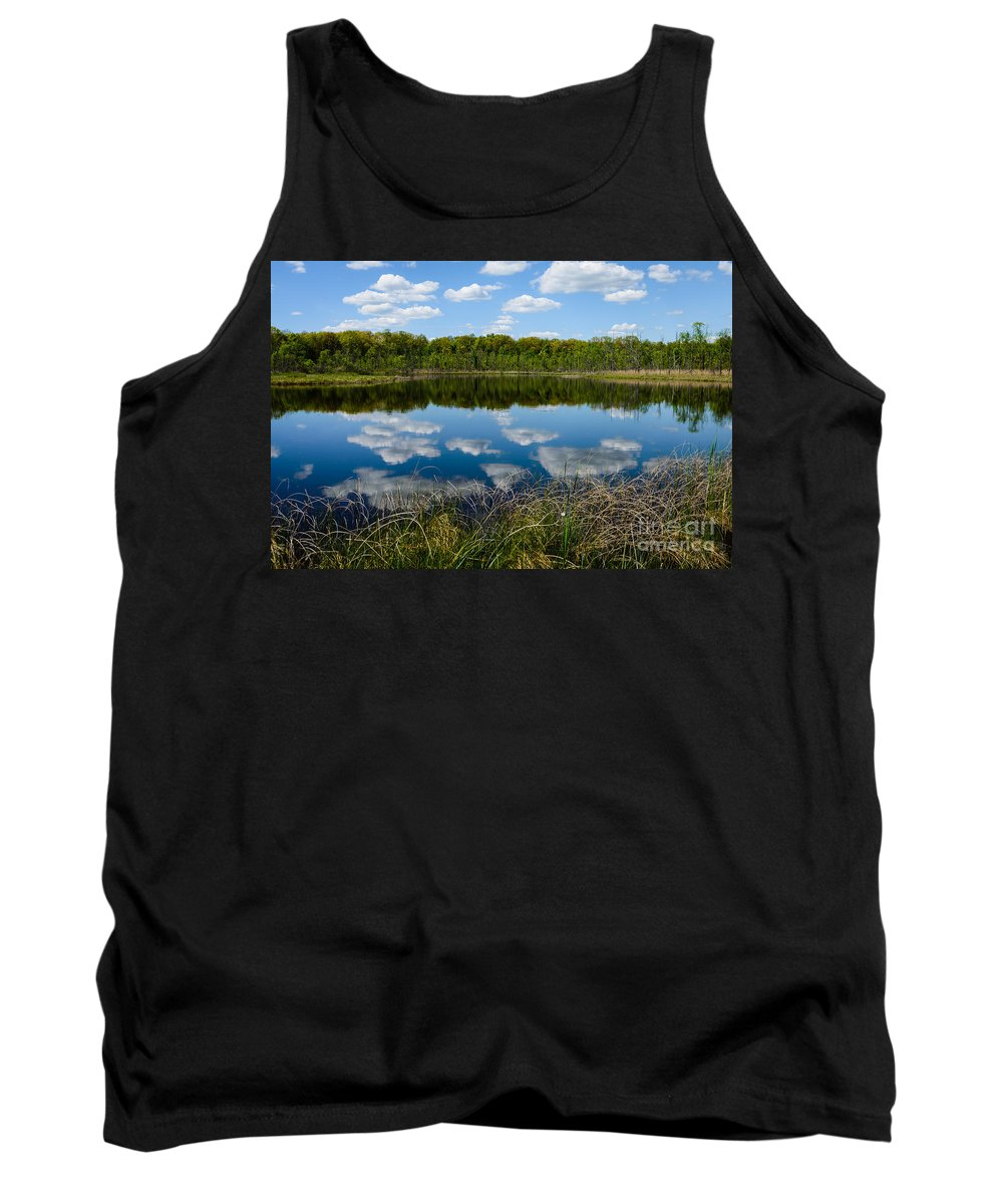 Landscape Tank Top featuring the photograph Timberland Lake by Patrick Shupert