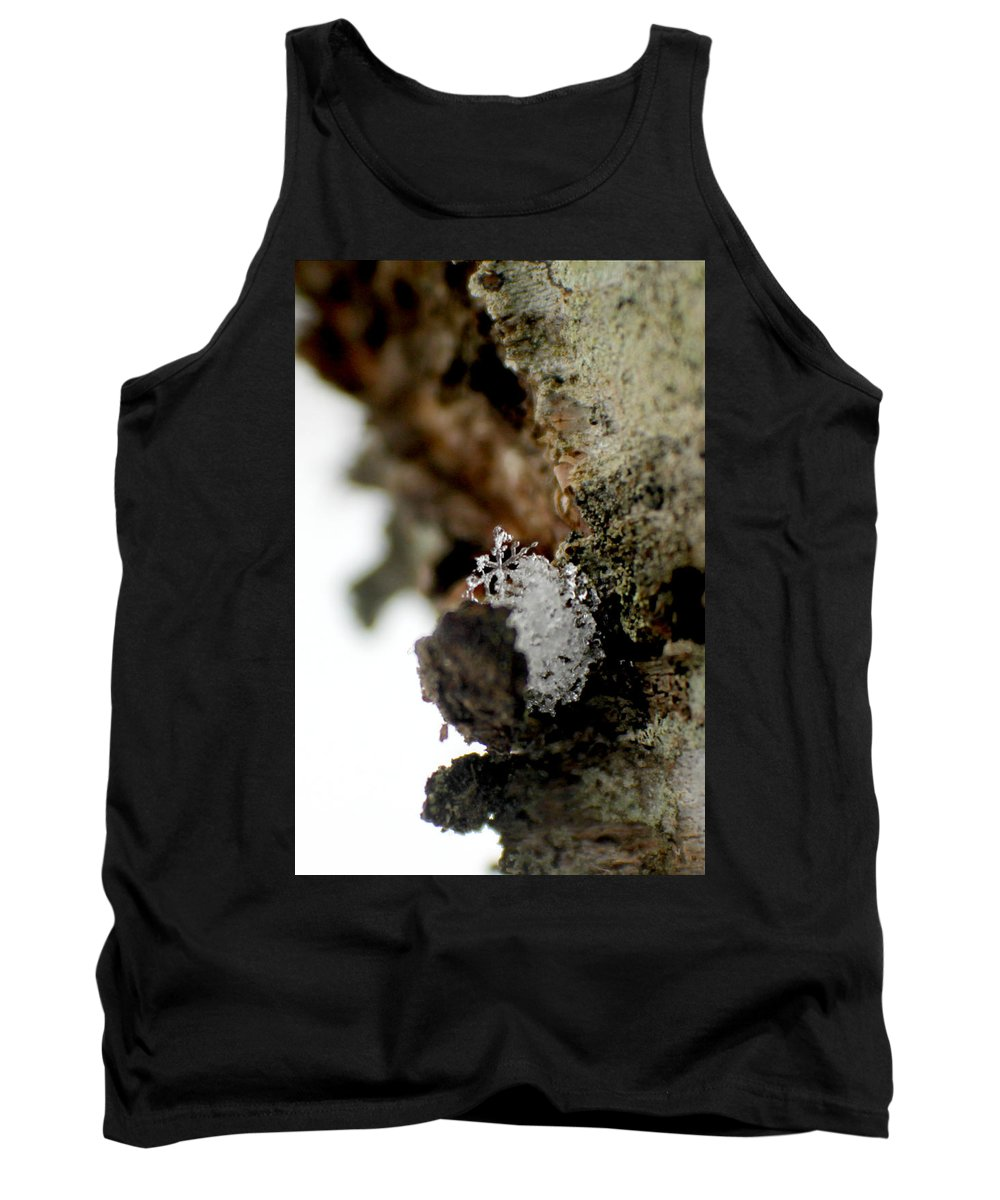 Flake Tank Top featuring the photograph Tiny Flake by Tina Meador