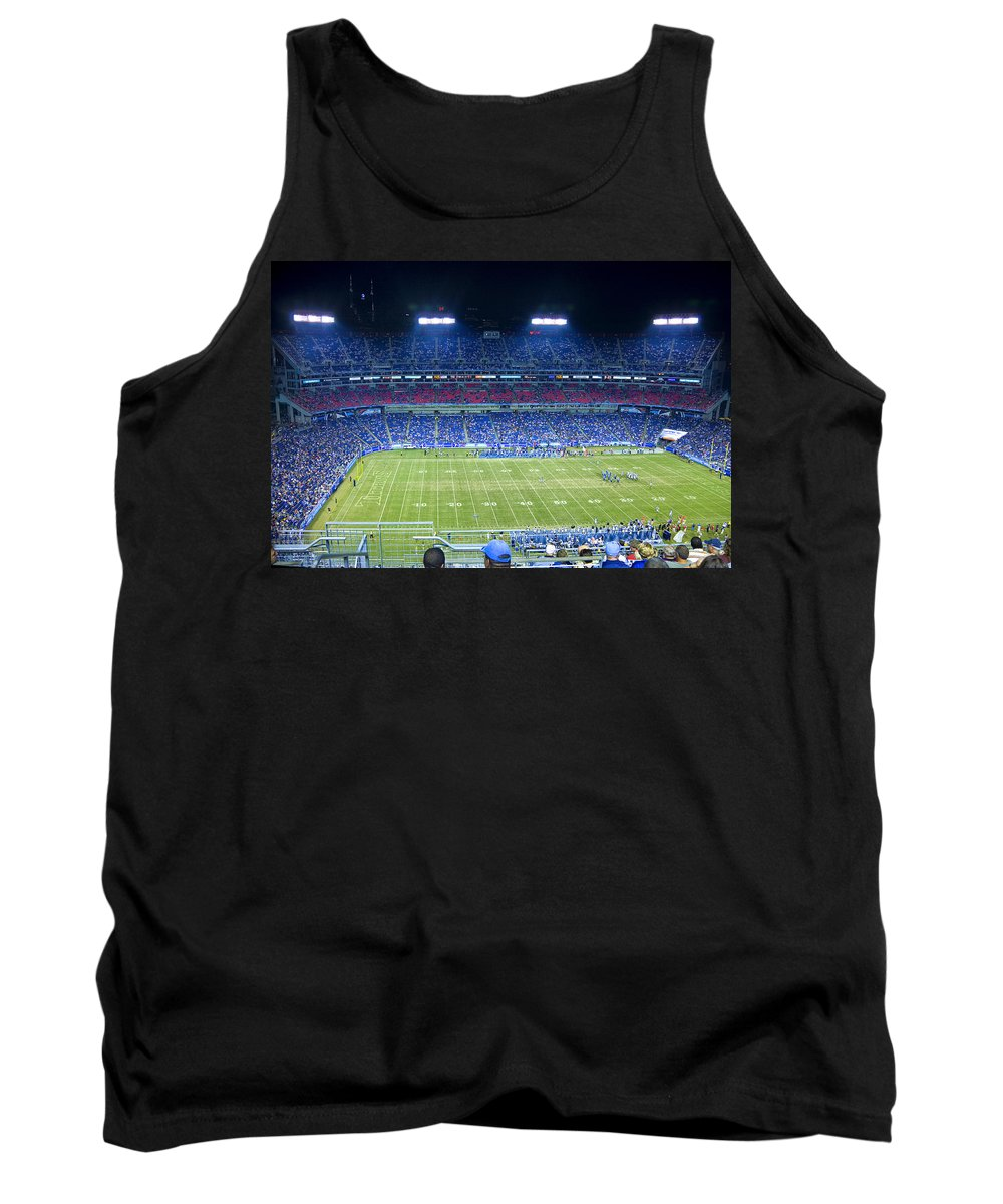 Football Tank Top featuring the photograph Titans Lp Field 9-3-2010 by Diana Powell