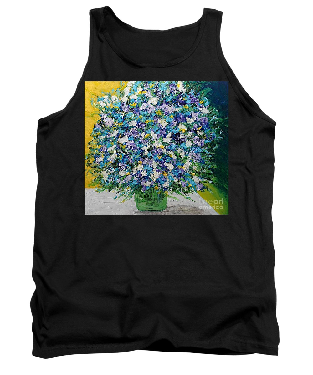 Landscape Tank Top featuring the painting To Have And Delight by Allan P Friedlander