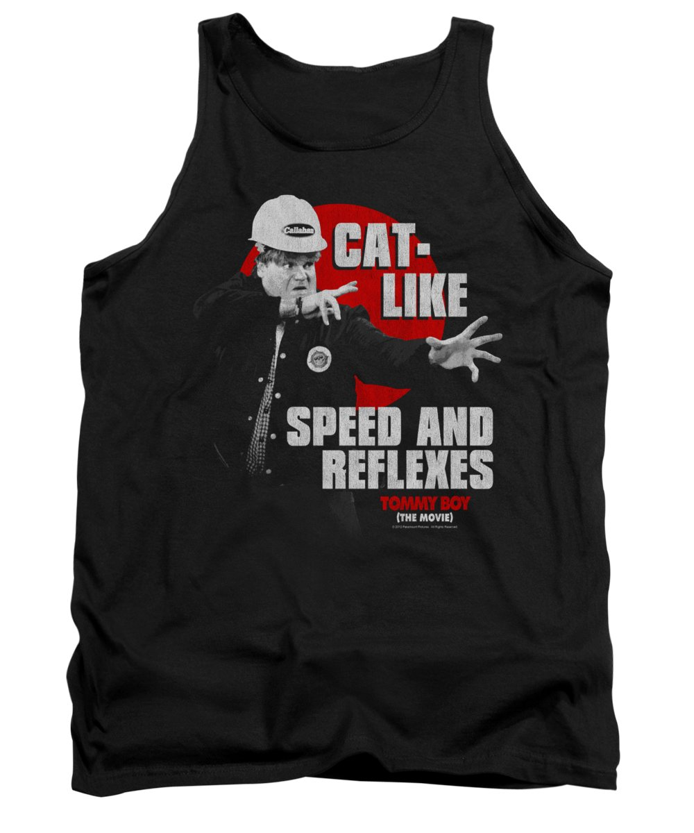 Tommy Boy Tank Top featuring the digital art Tommy Boy - Cat Like by Brand A
