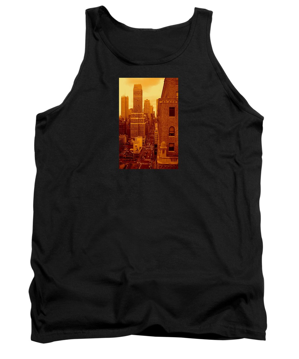 Manhattan Posters And Prints Tank Top featuring the photograph Top Of Manhattan by Monique's Fine Art