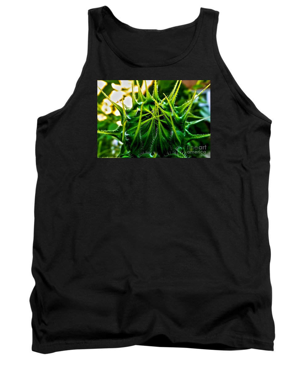 Sunflower Tank Top featuring the photograph Total Eclipse Of The Sunflower by James Aiken