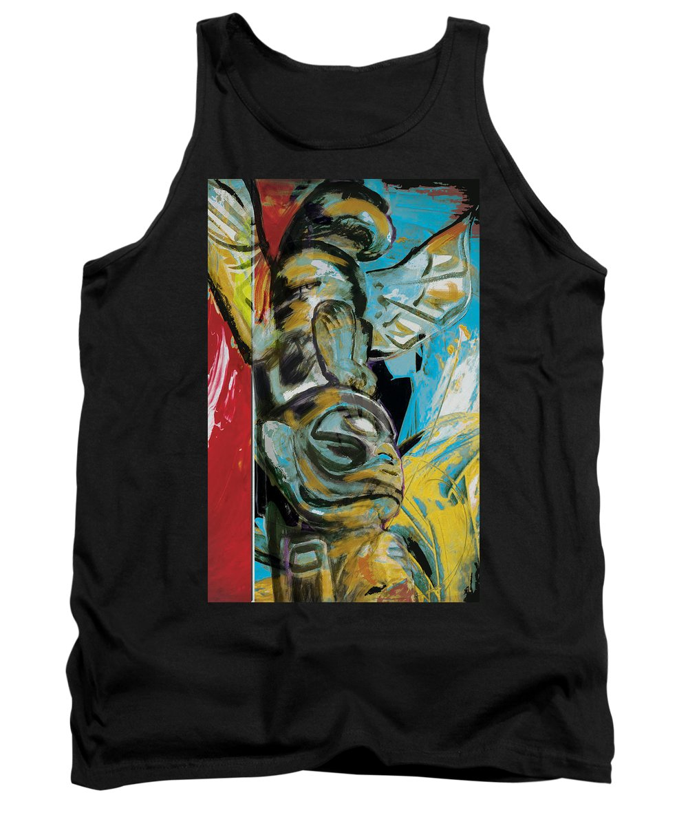 Aboriginals Tank Top featuring the painting Totem Pole 2 by Corporate Art Task Force