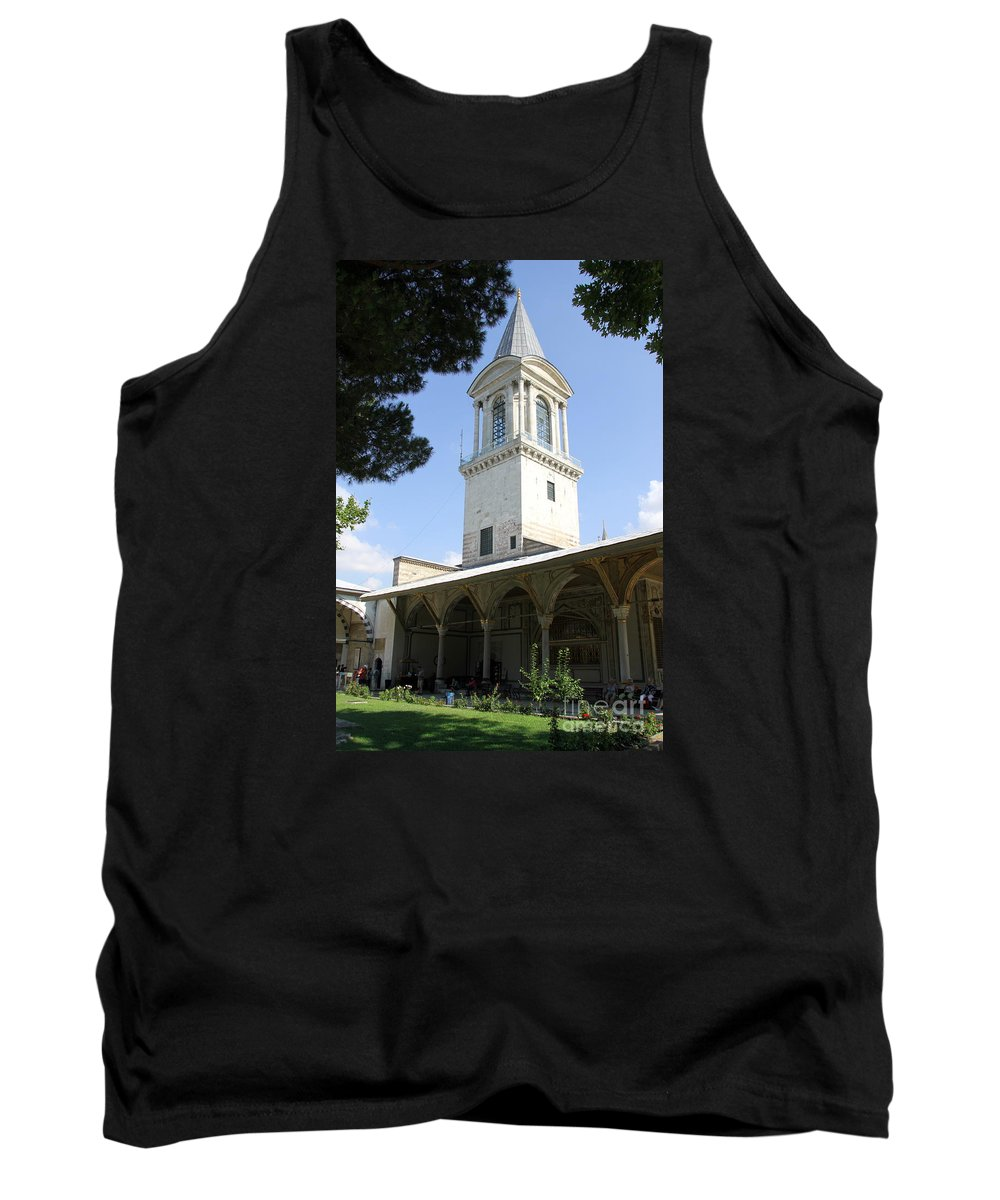 Tower Of Justice Tank Top featuring the photograph Tower Of Justice - Topkapi Palace - Istanbul by Christiane Schulze Art And Photography