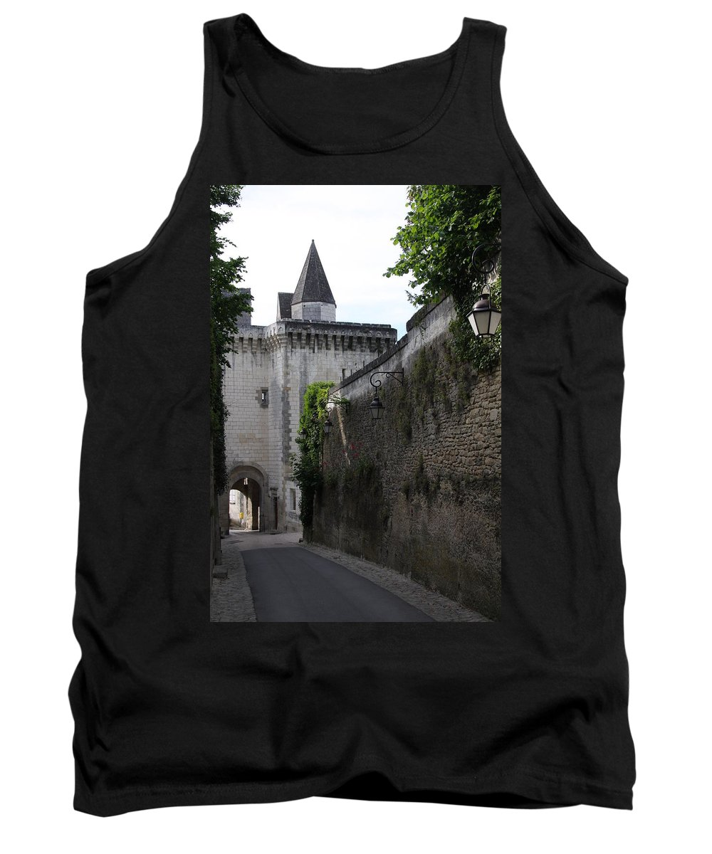 Town Gate Tank Top featuring the photograph Town Gate - Loches - France by Christiane Schulze Art And Photography