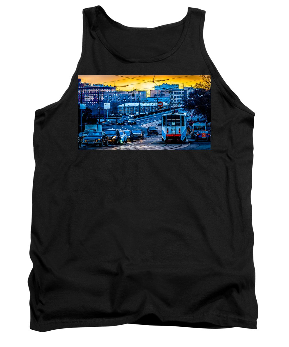 Moscow Tank Top featuring the photograph Tramway A by Alexander Senin