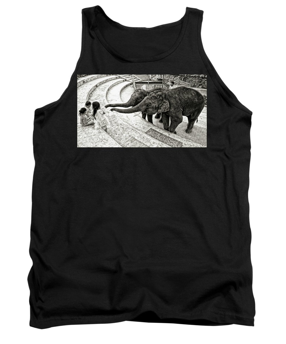 Street Tank Top featuring the photograph Treats Please by Ian Gledhill