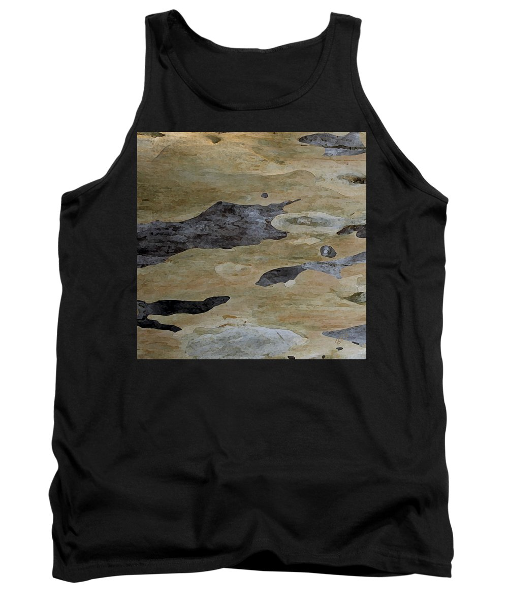 Botanical Abstract Tank Top featuring the photograph Tree Bark I by Ben and Raisa Gertsberg