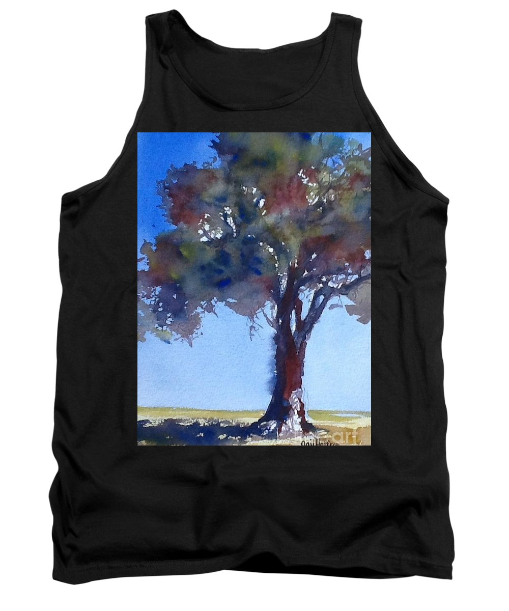 Tree Tank Top featuring the painting Tree Of Color by Gail Heffron