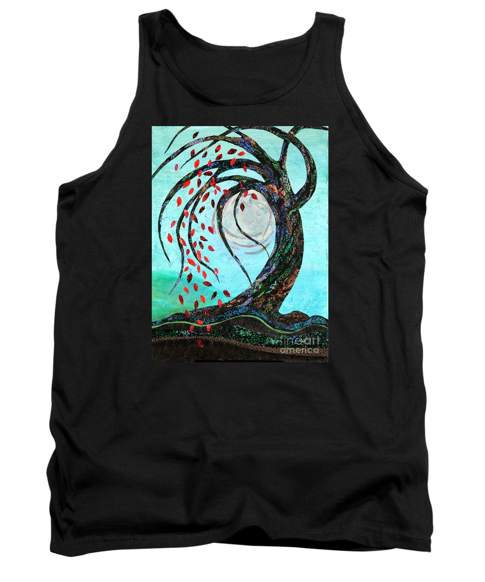 Colorful Tank Top featuring the mixed media Tree Of Life by Susan Minier