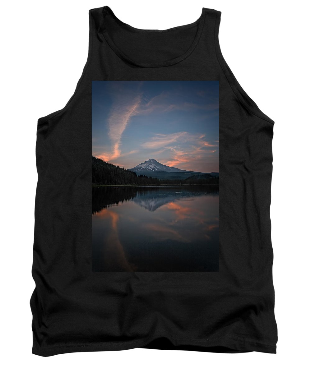 Trillium Twilight Tank Top featuring the photograph Trillium Twilight by Wes and Dotty Weber