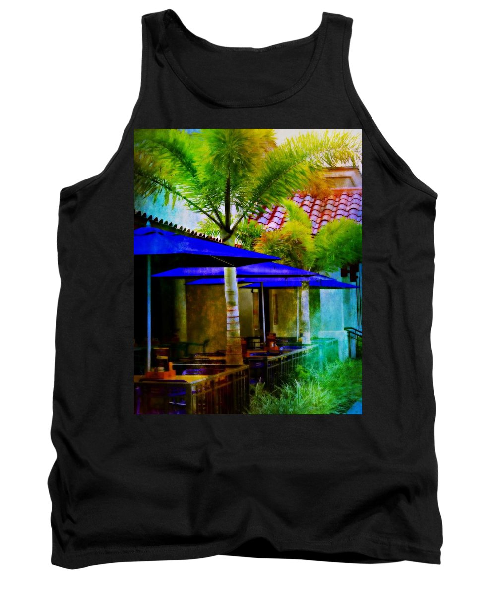 Tropical Tank Top featuring the photograph Tropical Al Fresco by Barbara Chichester