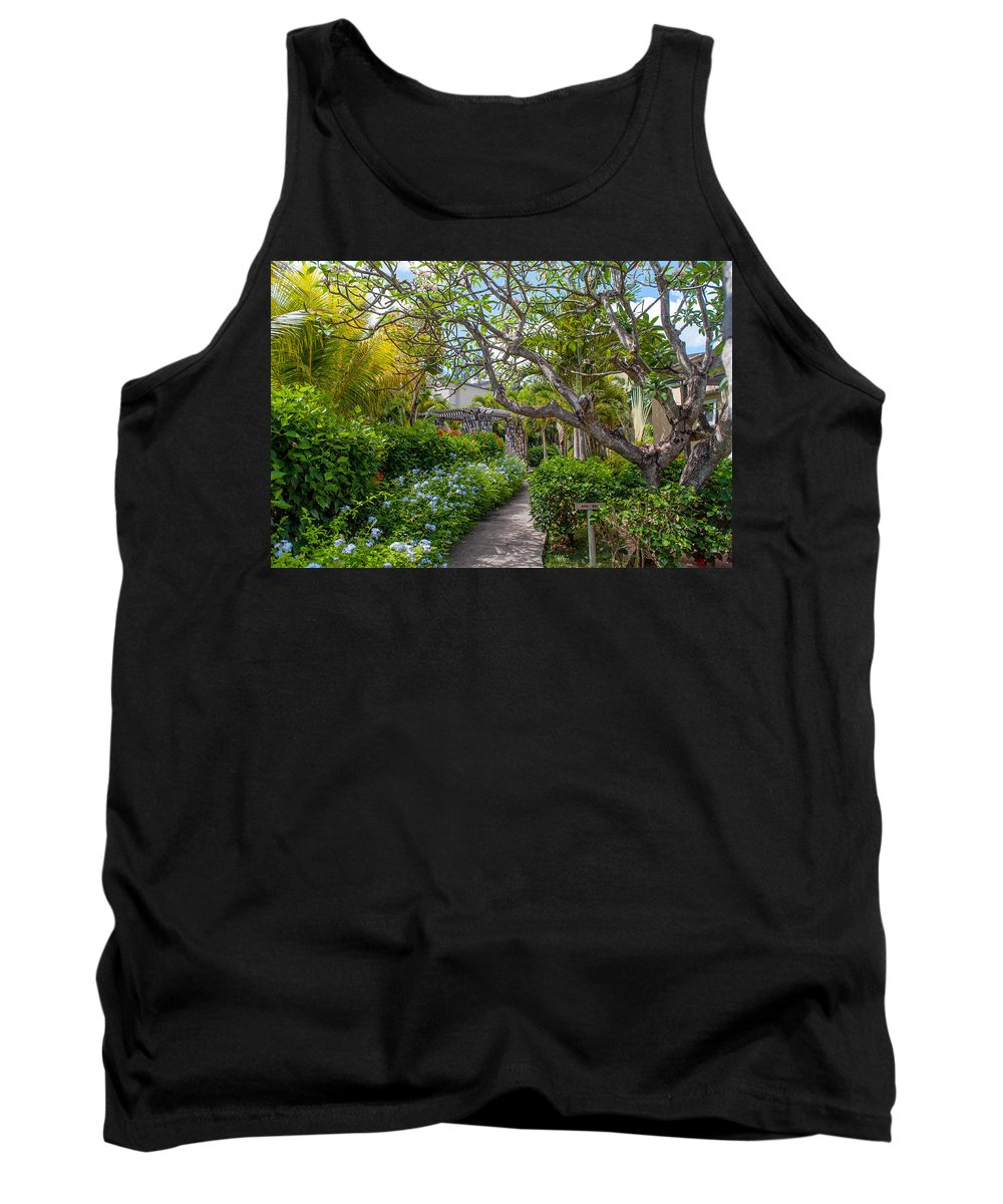 Mauritius Tank Top featuring the photograph Tropical Garden. Mauritius by Jenny Rainbow