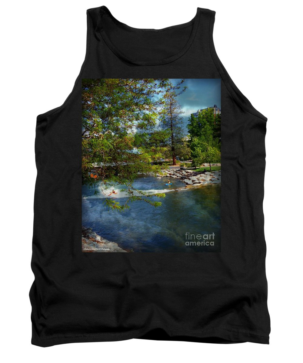 Acrylic Prints Tank Top featuring the photograph Truckee River Reno Beauty by Bobbee Rickard