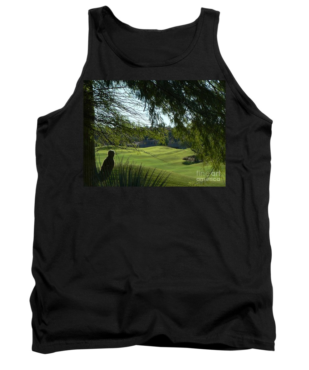 Golf Course Tank Top featuring the photograph Tucson Foothills Golf Course by Rincon Road Photography By Ben Petersen