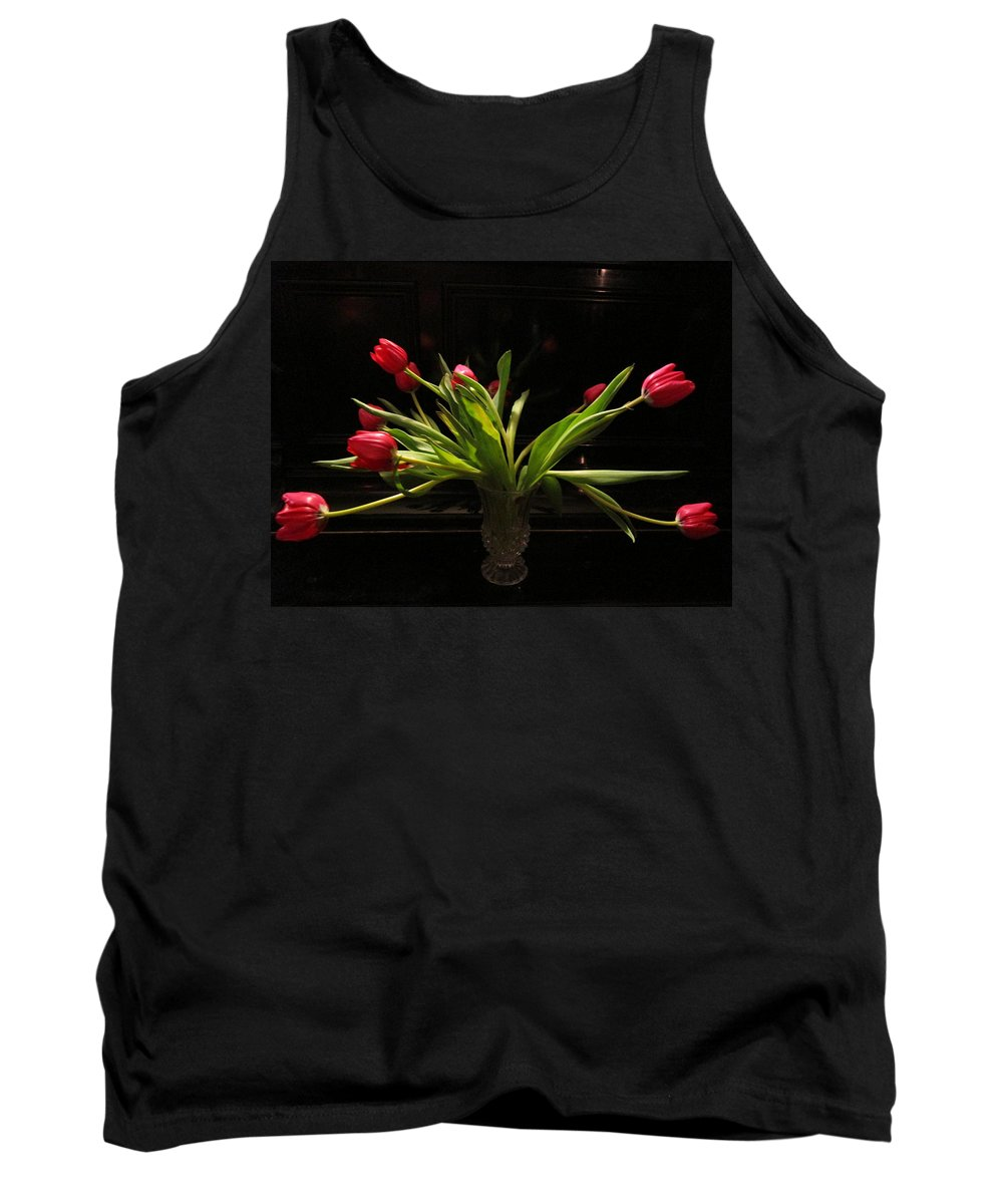 Flowers Tank Top featuring the photograph Tulip Mania 17 by Rosita Larsson