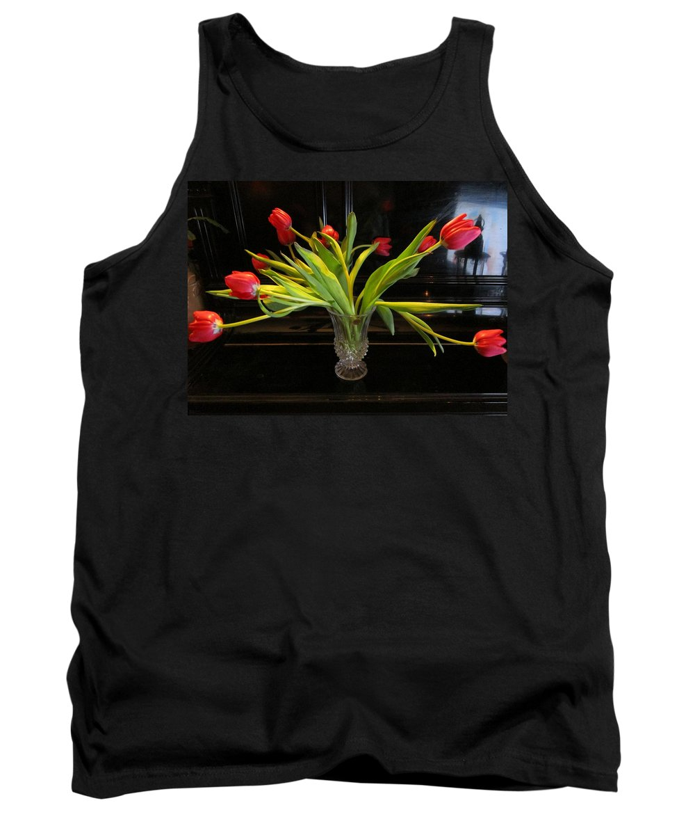 Flowers Tank Top featuring the photograph Tulip Mania 18 by Rosita Larsson