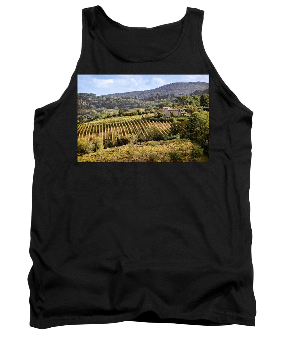 Tuscany Tank Top featuring the photograph Tuscan Valley by Dave Bowman