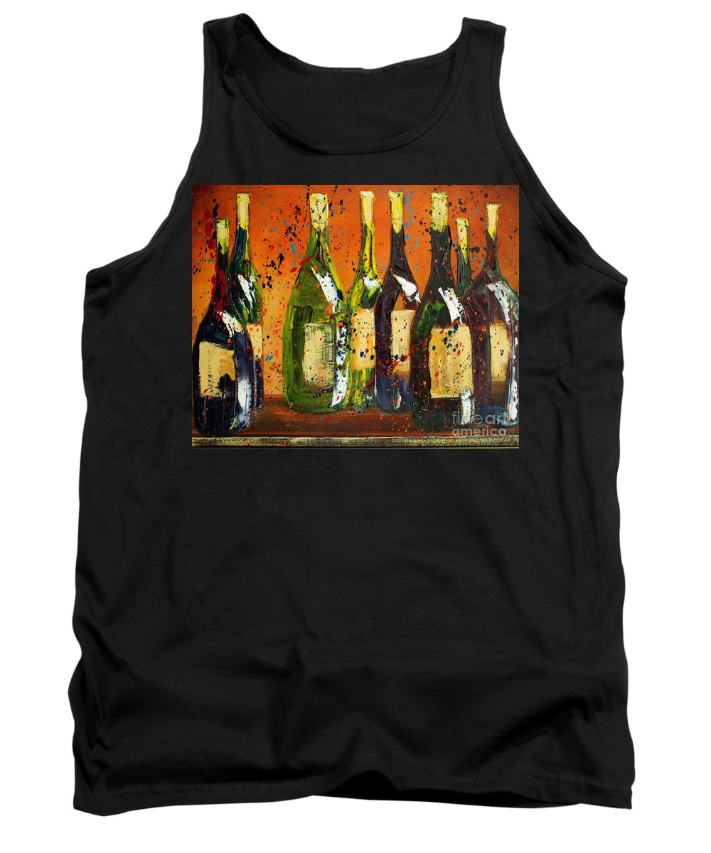 Wine Tank Top featuring the painting Tuscan Wine by Jodi Monahan