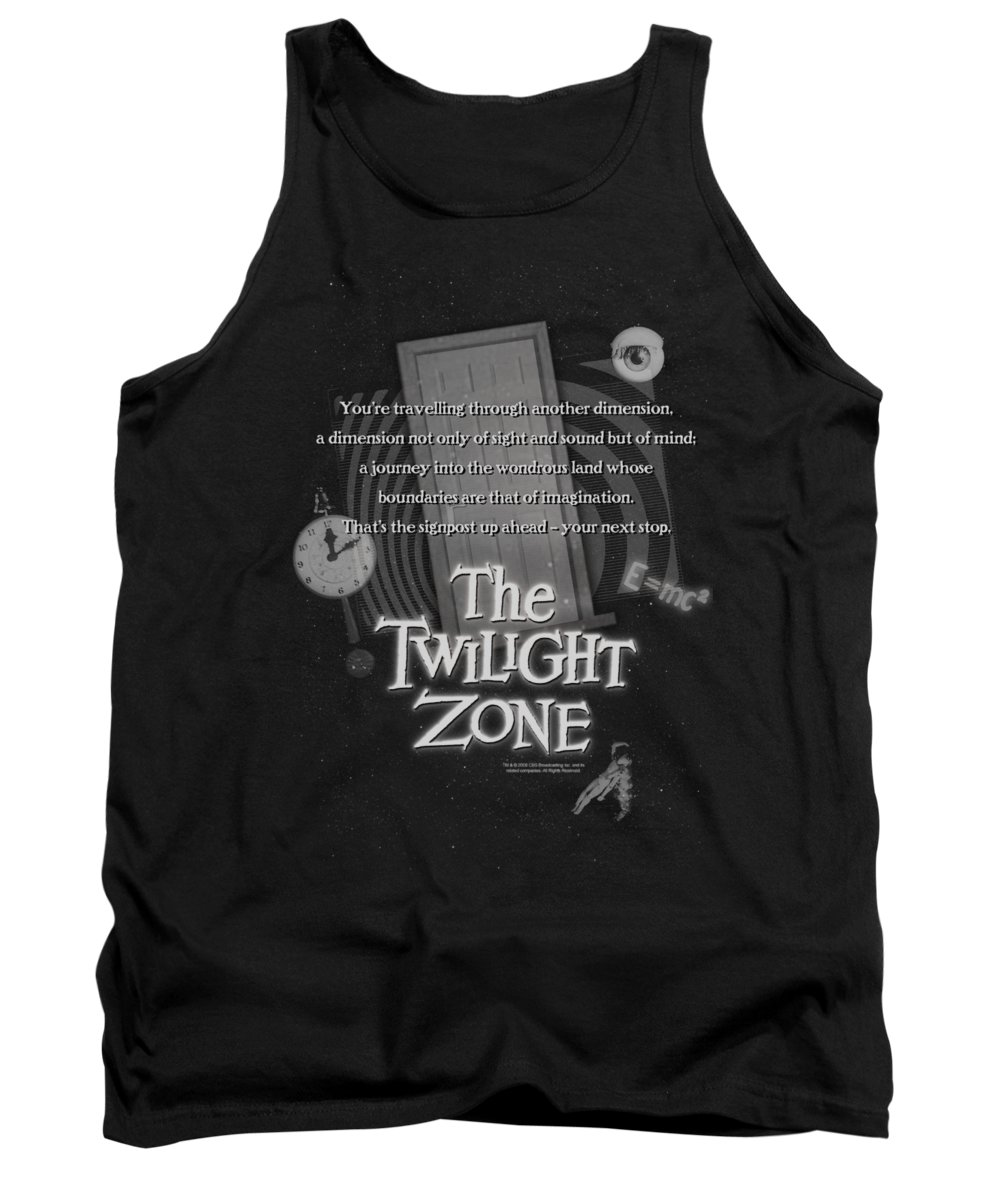 Twilight Zone Tank Top featuring the digital art Twilight Zone - Monologue by Brand A