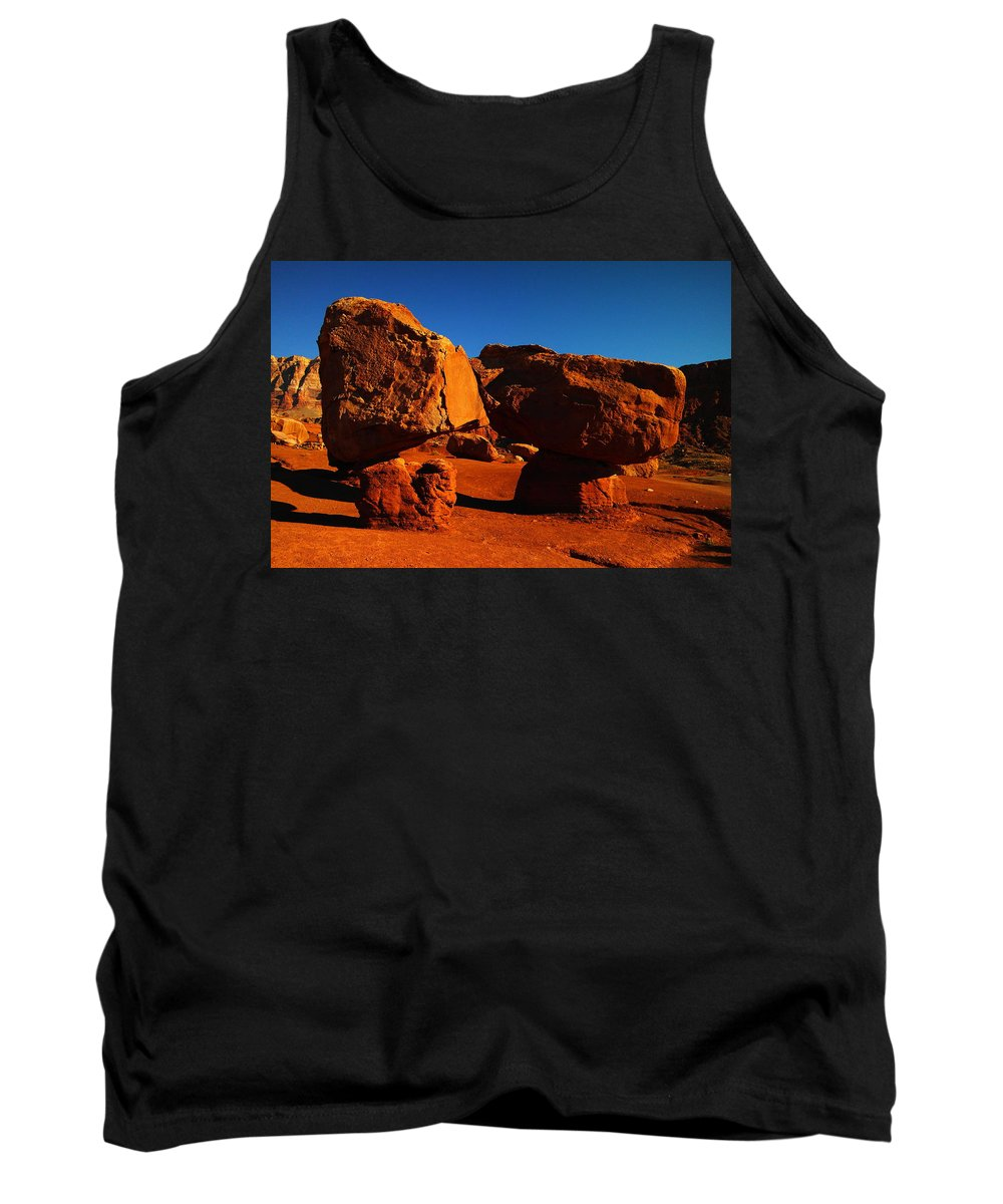 Rocks Stones Tank Top featuring the photograph Two Rocks At Cliff Dwellers by Jeff Swan