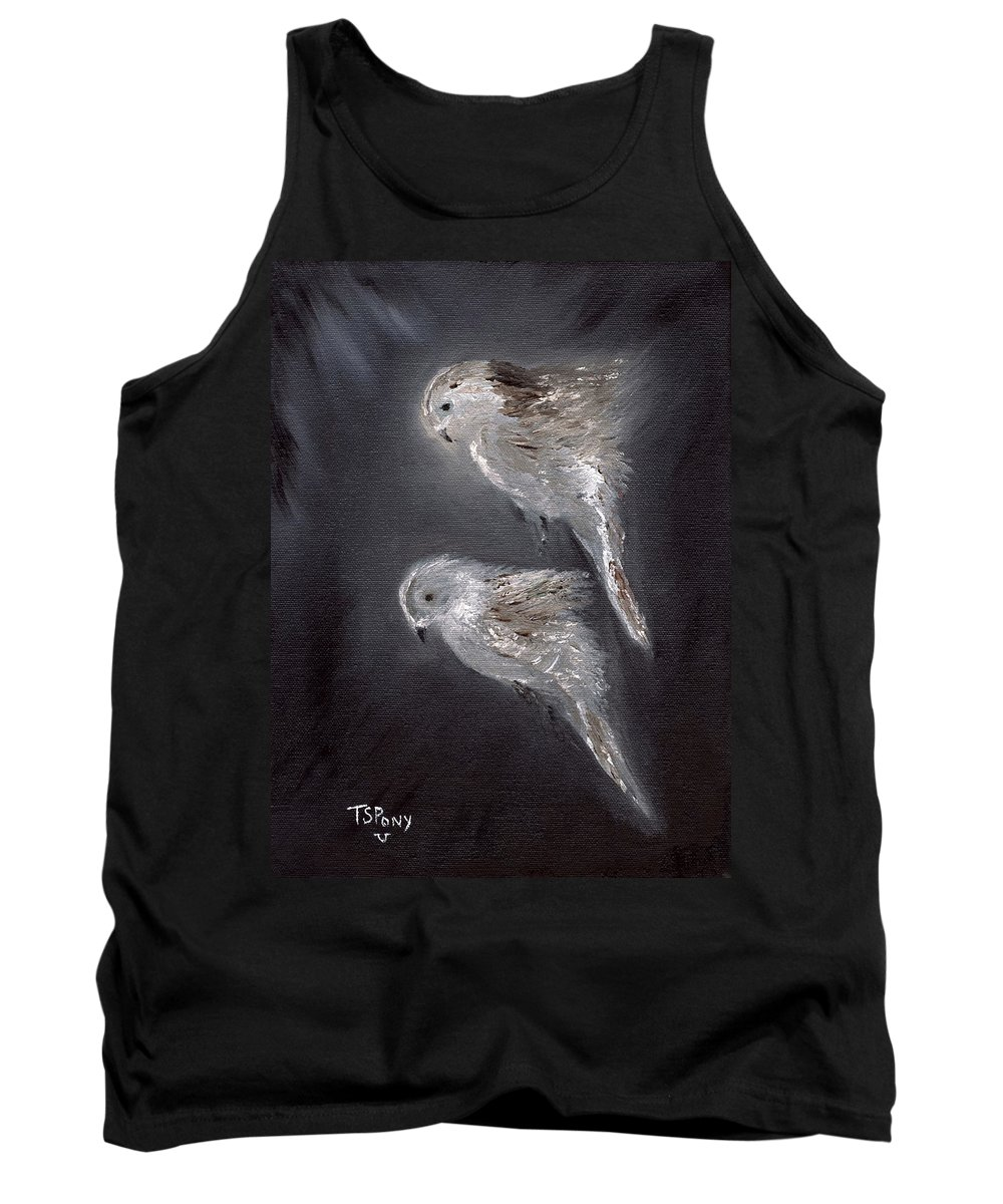 Birds Tank Top featuring the painting Two Spirits In The Night by Barbie Batson
