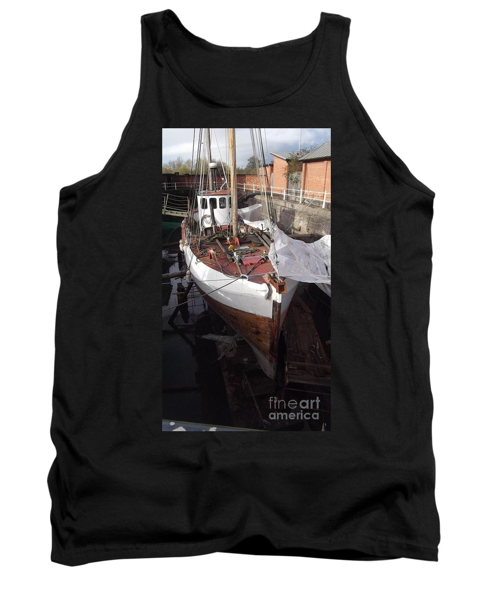 Gloucester Historic Docks Tank Top featuring the photograph Under Repair 1 by John Williams