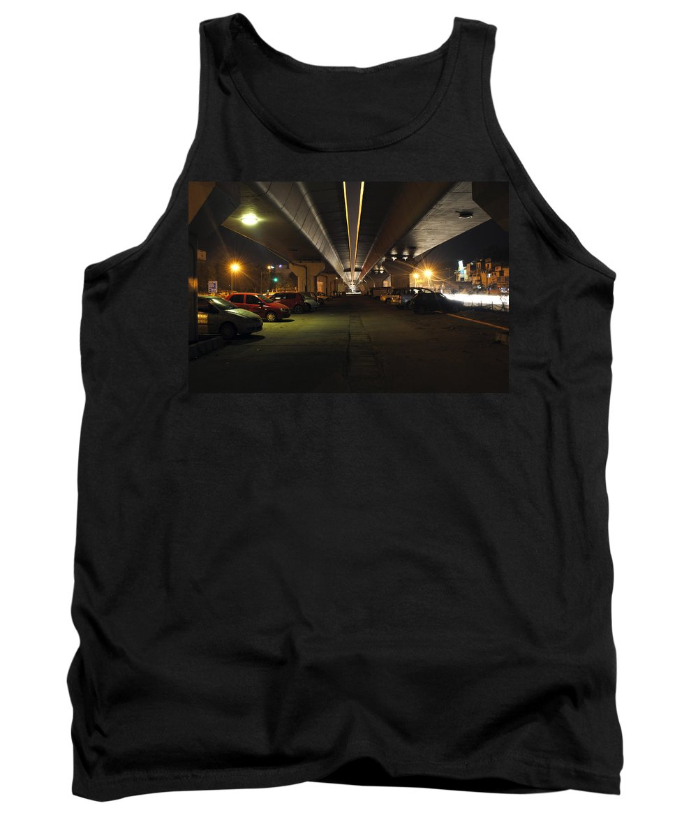 Cars Tank Top featuring the photograph Under The Flyover by Sumit Mehndiratta