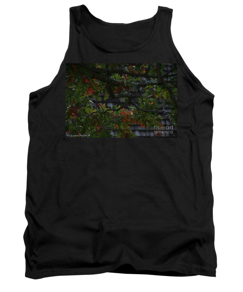 Flower Tank Top featuring the photograph Under The Old Oak Tree by Susan Herber