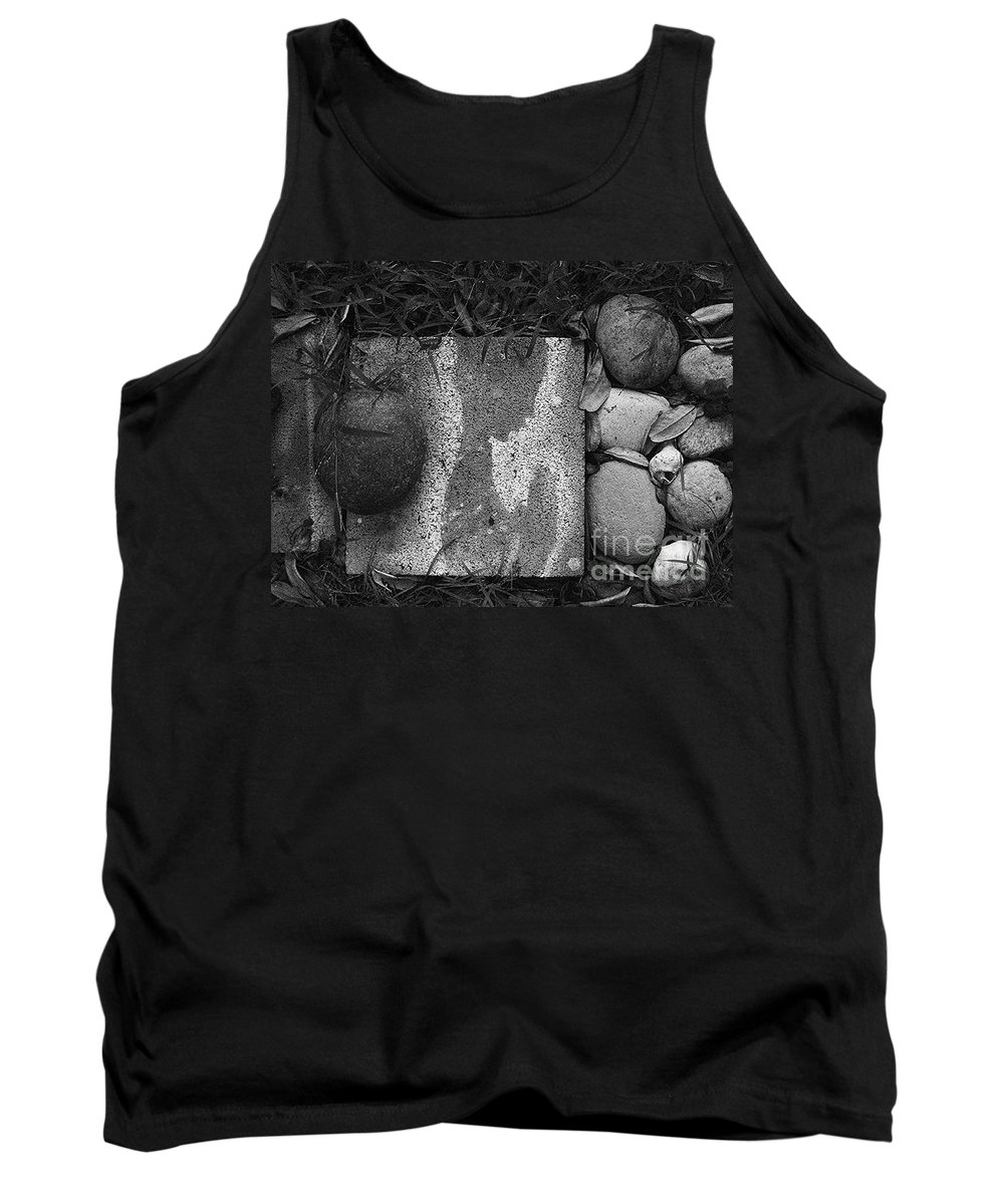 Black And White Photography Tank Top featuring the photograph Underneath The Concrete2 by Fei A