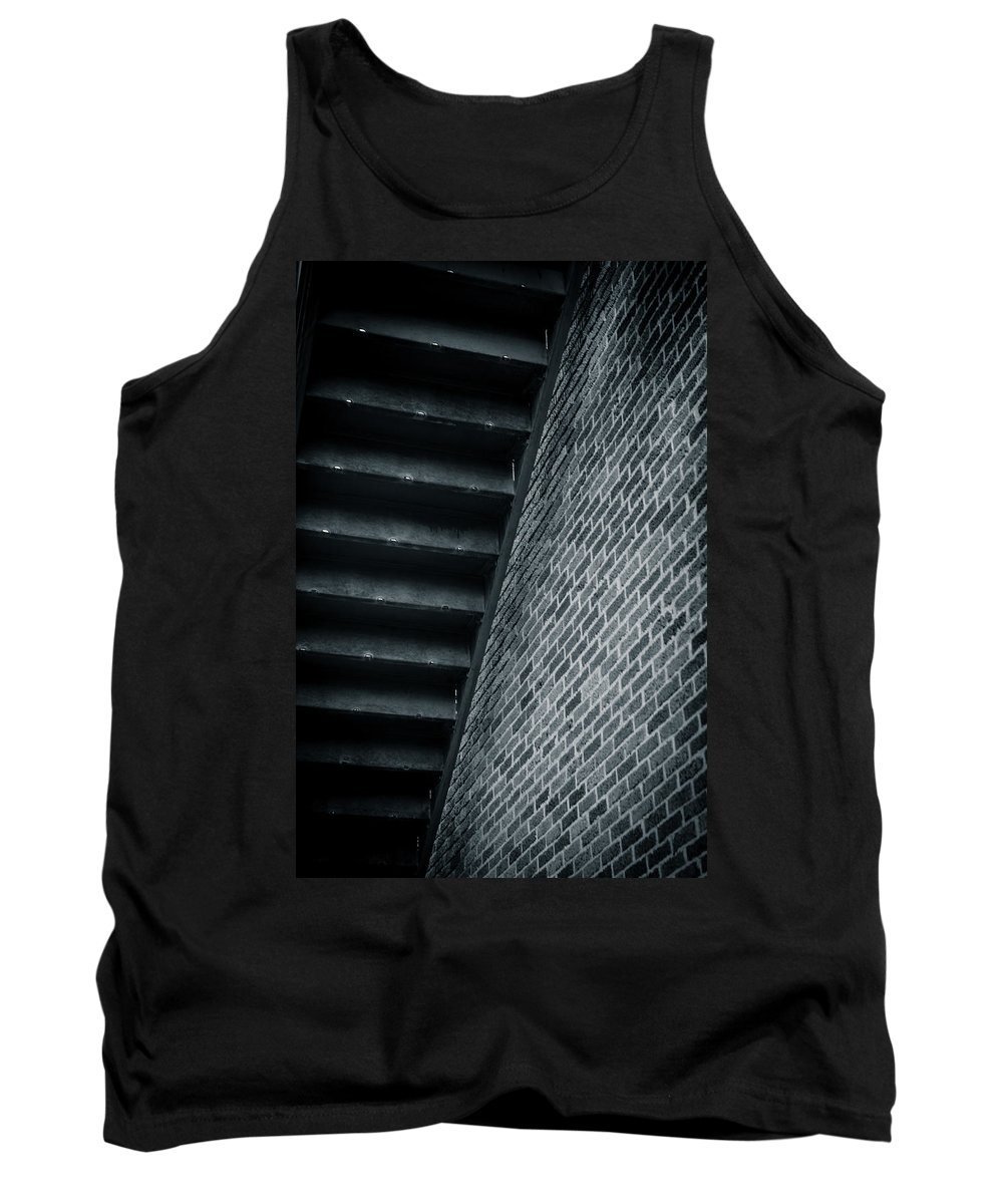 Downtown Tank Top featuring the photograph Underneath The Stairs by Melinda Ledsome