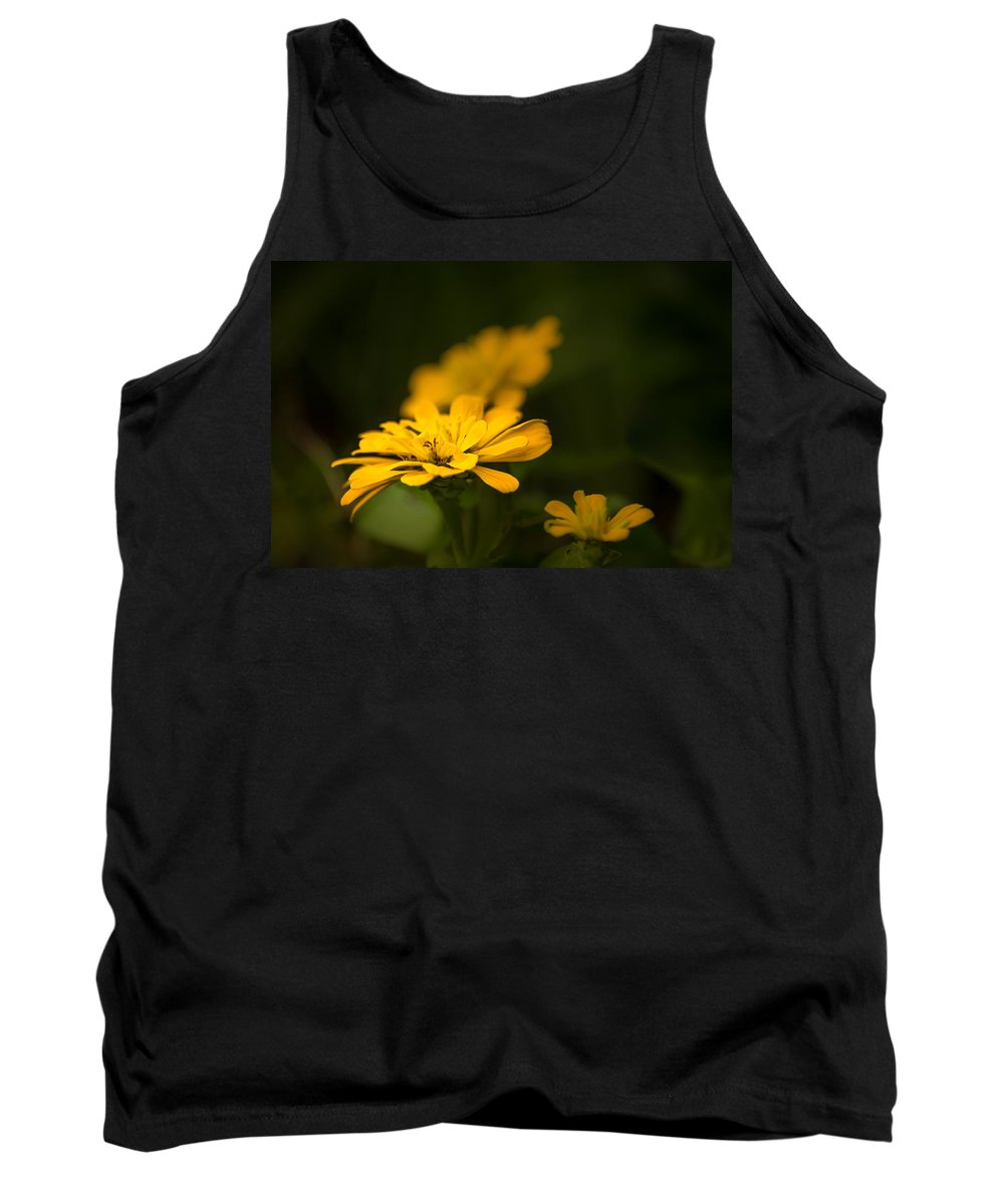 Art Flower Photo Tank Top featuring the photograph Unidentified Yellow Flower by Onyonet Photo Studios