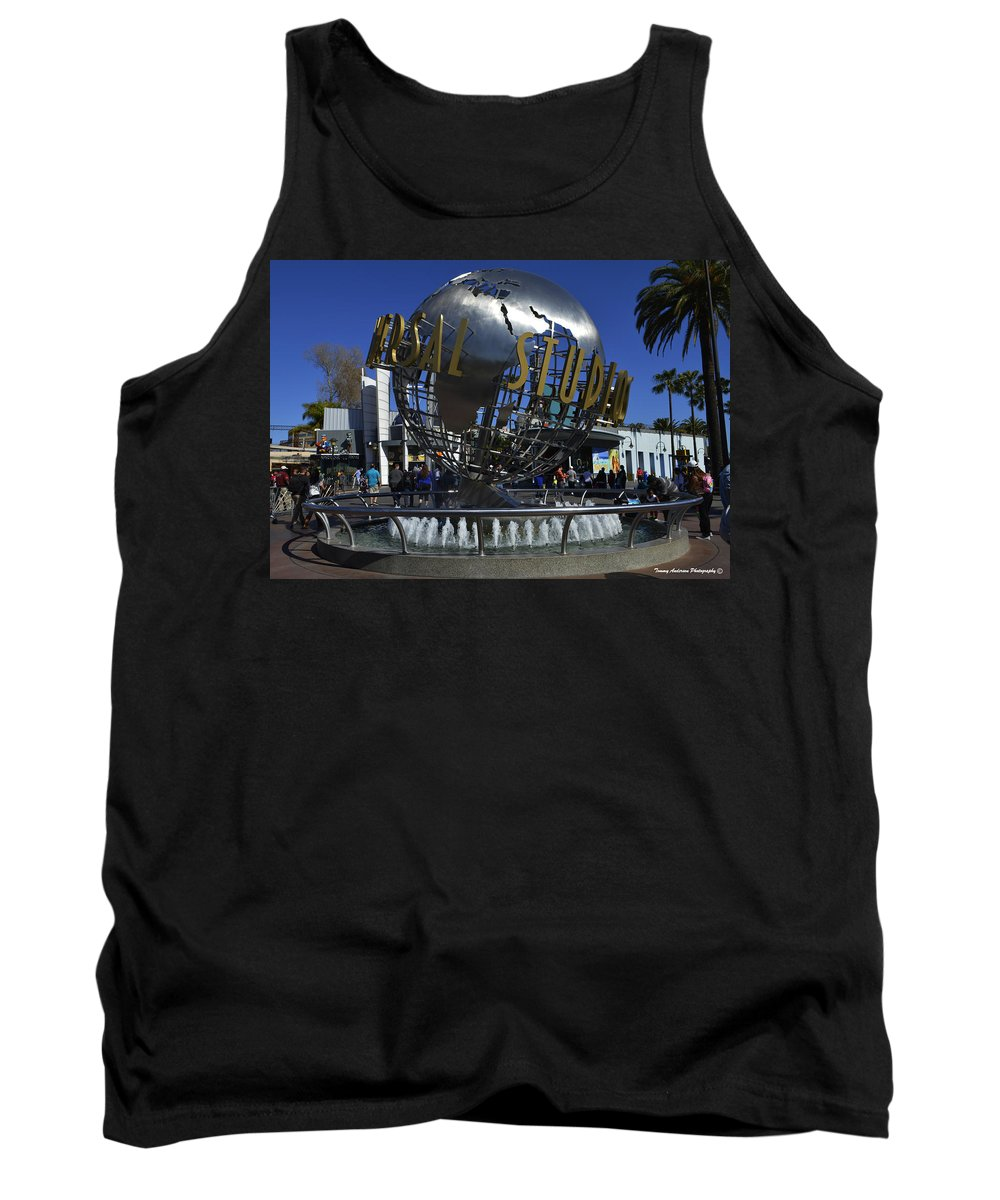 Universal Studios Tank Top featuring the photograph Universal Studios Globe by Tommy Anderson