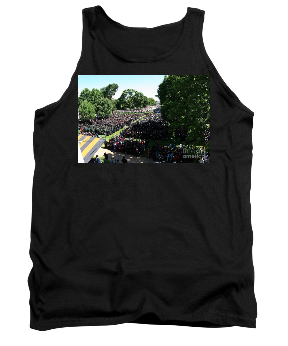 University Of Virginia Tank Top featuring the photograph University Of Virginia Graduation by Jason O Watson