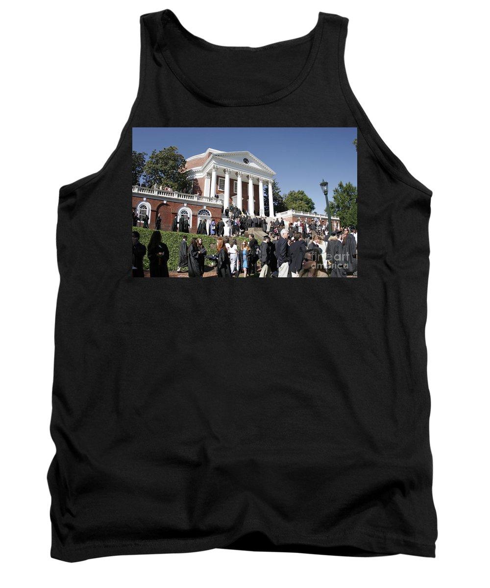 University Of Virginia Tank Top featuring the photograph University Of Virginia Rotunda Graduation by Jason O Watson