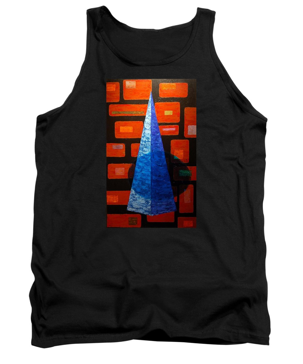 Abstract Tank Top featuring the painting Untitled - 08 by Vitor Fernandes VIFER