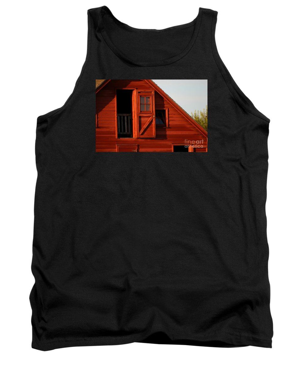 Barn Tank Top featuring the photograph Upper Barn Door-3704 by Gary Gingrich Galleries