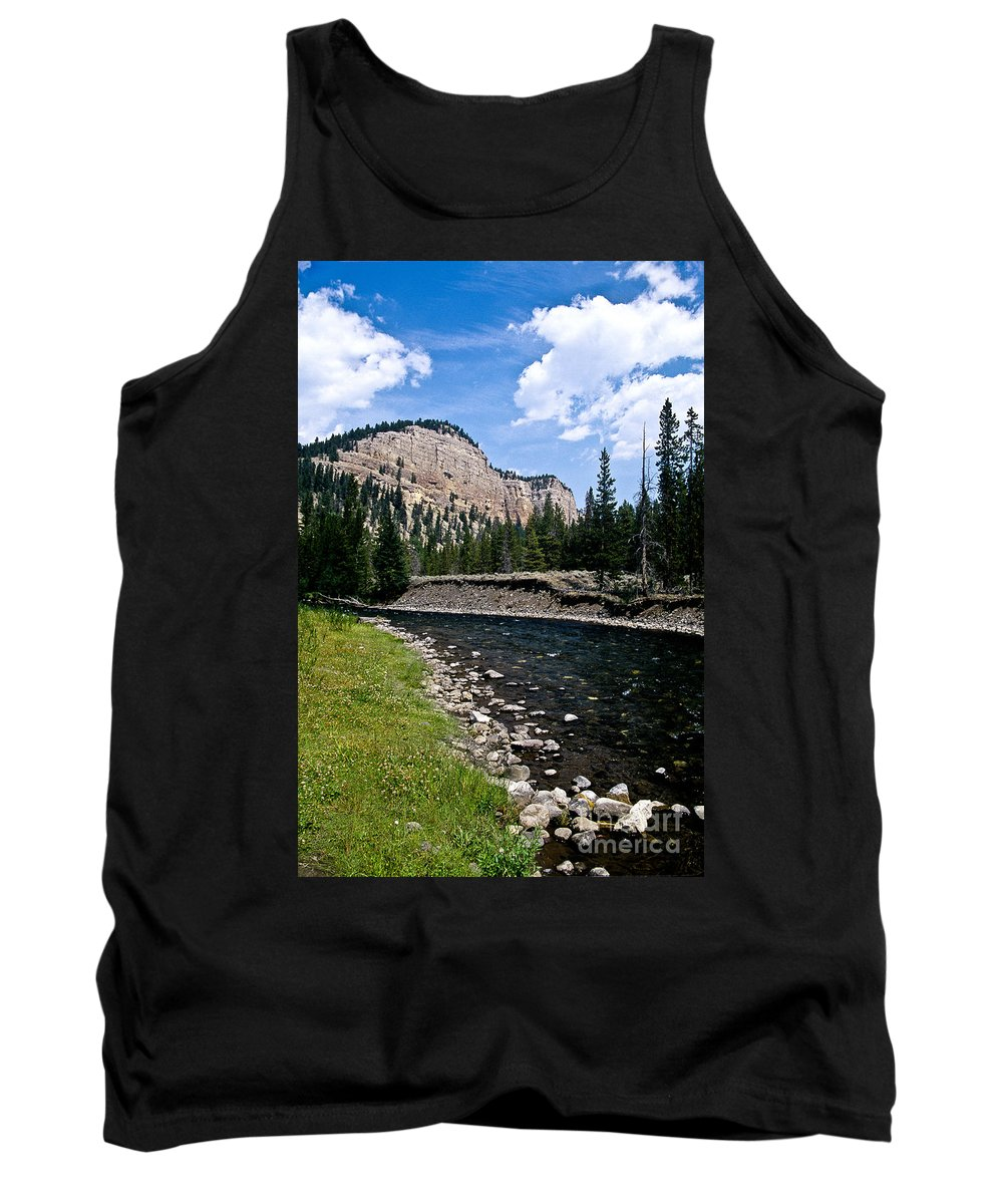 Landscape Tank Top featuring the photograph Upriver In Washake Wilderness by Kathy McClure