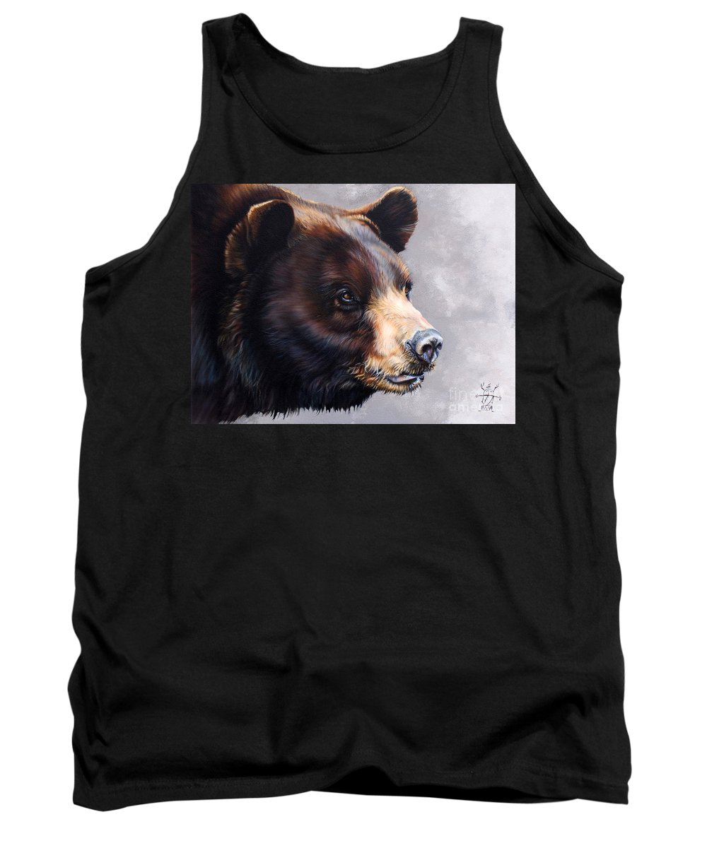 Bear Tank Top featuring the painting Ursa Major by J W Baker