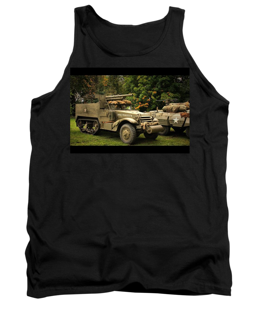 Armor Tank Top featuring the photograph Us Armor by Lyle Hatch